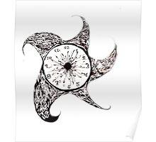 contrast clock Poster