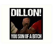 Schwarzenegger Dillon Predator Arm Wrestle  Art Print