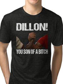 Schwarzenegger Dillon Predator Arm Wrestle  Tri-blend T-Shirt