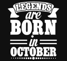 Legends are Born in October Kids Tee