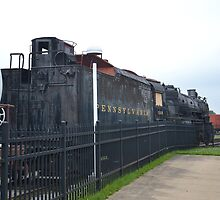 Train Engine and Tender at Penssy  Museum by BearheartFoto