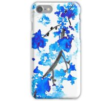 Blue Cherry Blossoms iPhone Case/Skin