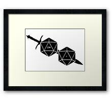 Dungeons And Dragons: The Dice And Sword Framed Print