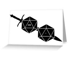 Dungeons And Dragons: The Dice And Sword Greeting Card