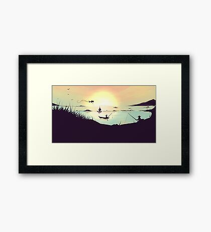 Summer Lake Framed Print