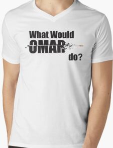 "What Would Omar Do? ""The Wire"" Mens V-Neck T-Shirt"