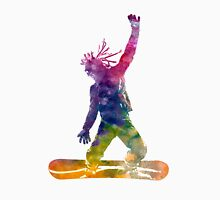 Young snowboarder man 01 in watercolor Unisex T-Shirt