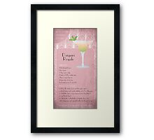 Daiquiri Royale Cocktail Recipe Framed Print