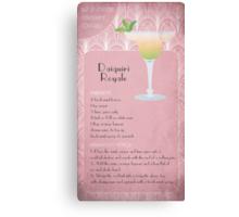 Daiquiri Royale Cocktail Recipe Canvas Print