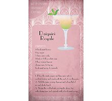 Daiquiri Royale Cocktail Recipe Photographic Print