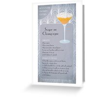 Soyer Au Champagne Cocktail Recipe Greeting Card