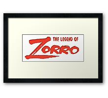 The legend of zorro Framed Print