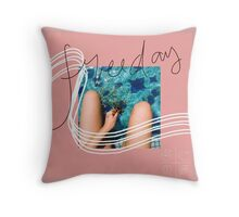Pink Freeday Throw Pillow