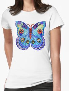 """""""Just a Butterfly!"""" Womens Fitted T-Shirt"""