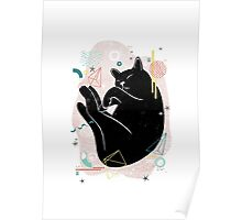 Sleeping Kitten illustration Poster