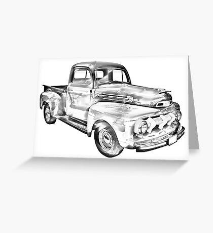 1951 Ford F-1 Pickup Truck Illustration  Greeting Card