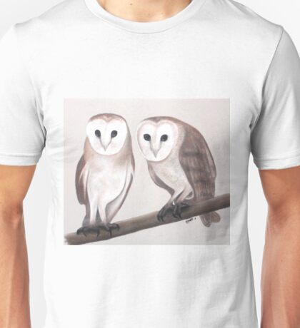 Cute Barn Owls Unisex T-Shirt