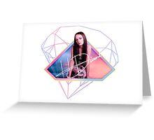 Hannah Diamond - Pink & Blue Sky Greeting Card