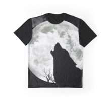 The Wolf And The Moon Graphic T-Shirt