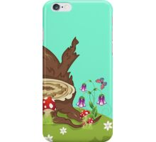 Tree Stump and Mushrooms iPhone Case/Skin