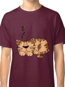 Animal Cartoon Cat Sleeping Classic T-Shirt