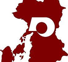 Flag Map of Kumamoto Prefecture  by abbeyz71