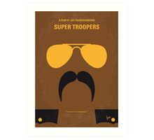 No459 My Super Troopers minimal movie poster Art Print