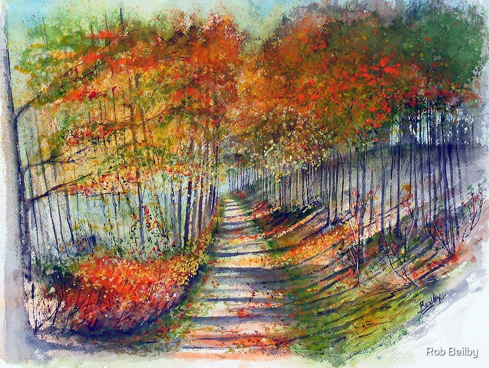 Autumn Lane by Rob Beilby