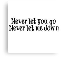 Let me love you lyrics - Justin Bieber Canvas Print
