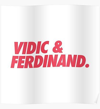 MUFC duo_ VIDIC & FERDINAND Poster