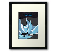 No466 My The Thing minimal movie poster Framed Print