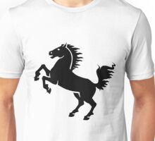 Black horse smart shown Unisex T-Shirt
