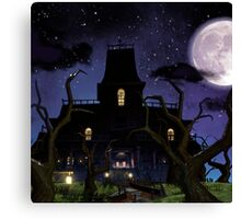 The Moon And The Castle Canvas Print
