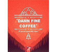 Twin Peaks - Damn Fine Coffee Photographic Print