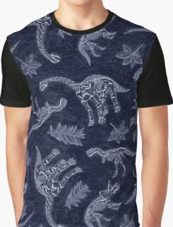 Age Of Dinosaurs Skeletons Pattern Graphic T-Shirt