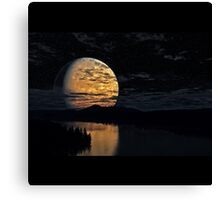 The Moon And The River Canvas Print