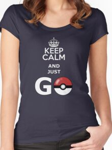 keep calm and just go Women's Fitted Scoop T-Shirt
