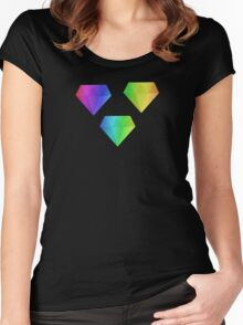 MLP - Cutie Mark Rainbow Special – Amethyst Star V3 Women's Fitted Scoop T-Shirt