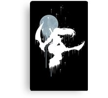 Mercenary Katarina White Ink Canvas Print
