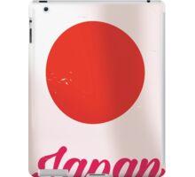 Japan Rising Sun vintage style travel poster  iPad Case/Skin
