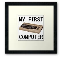My First Computer - Commodore 64 Framed Print