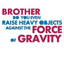 leviate weights against the force of gravity Photographic Print