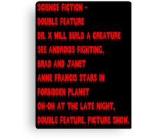 Science Fiction-Double Feature Canvas Print