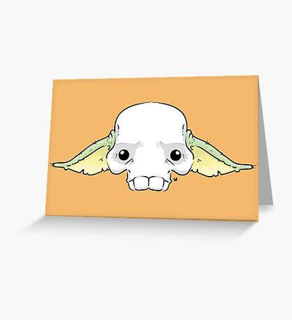 Yoda Skull Greeting Card