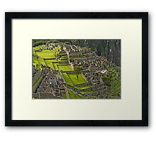 Machu Picchu Archeological site in Peru (II) Framed Print