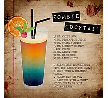 Zombie Cocktail Recipe Photographic Print