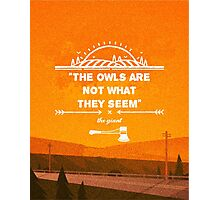 Twin Peaks - The Owls Are Not What They Seem Photographic Print