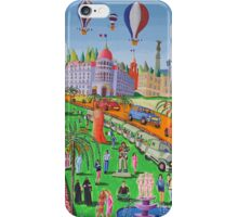 naive paintings Nice france city landscape beach art  iPhone Case/Skin