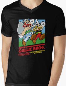 Super Gallic Bros. Mens V-Neck T-Shirt