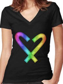 MLP - Cutie Mark Rainbow Special – Twist Women's Fitted V-Neck T-Shirt
